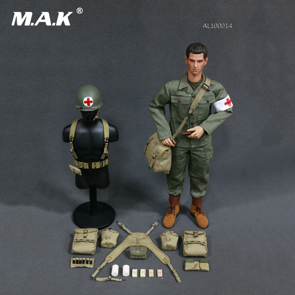 1/6 Scale WWII U.S.Army Military Surgeon Suit Soldier Clothing with Head For 12 Inches Action Figures 1 6 scale the game of death bruce lee head sculpt and kungfu clothes for 12 inches figures bodies