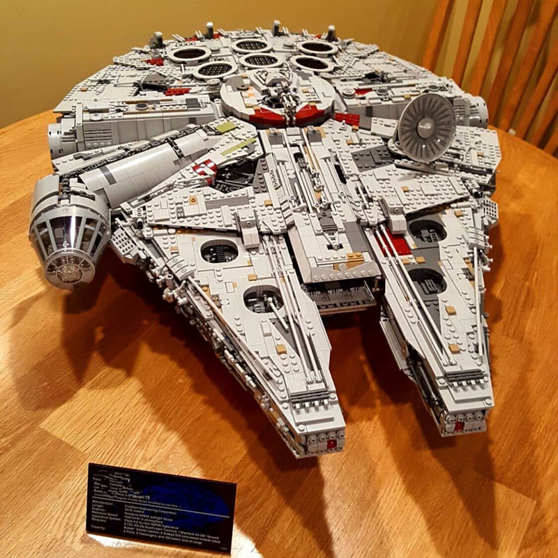 Lepin 05132 8445 pz Millennium Falcon Ultimate collector Destroyer Star Serie Wars Building Blocks Mattoni Compatibile 75192