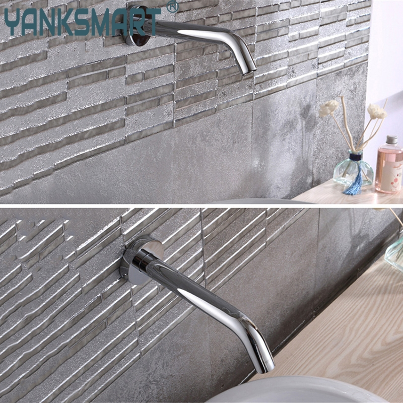 Bathroom Faucet Wall Mounted Sensor Faucet Automatic Hands Free ...