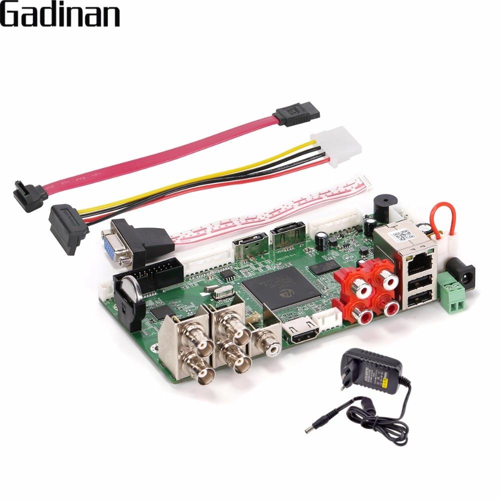 Gadinan CCTV H.264 гибридный видеорегистратор AHD 4ch 1080n/Сеть 8ch 1080 P NVR HDMI основная плата DIY Поддержка AHD /TVI/CVI/CVBS/ip onvif xmeye