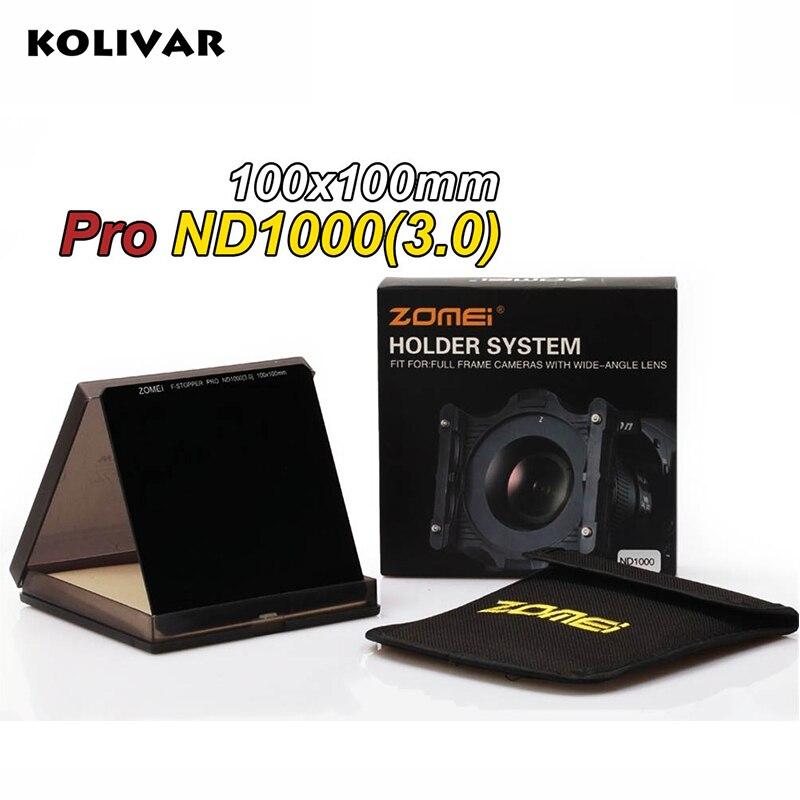 Zomei 100 мм квадратный фильтр ND1000 Pro Оптическое стекло 100x100 мм 10 стоп ND3.0 ND фильтр для Cokin Z серии Lee Hitech Singh Ray