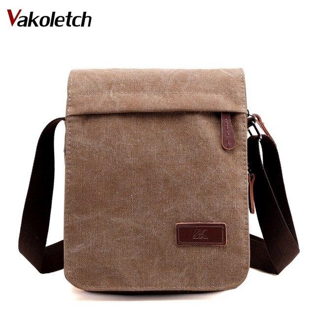 c85b830fd5bd Мужская сумка-мессенджер для отдыха в винтажном стиле Портфель Мужская сумка  через плечо мужская парусиновая