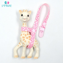Baby Pacifier Clip Chain Wooden Acrylic Cute Cartoon Fawn Baby