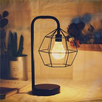 Edison Style Metal Home Table Lamp Warm White LEDs Wire Lights AA Battery Operated Night Lamp Retro Iron Led Lamp