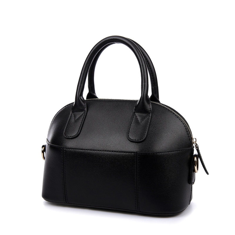 Ladylike Candy Color Vintage Shell Bag Women Retro Shoulder Bag Chic Simple Ladies Trendy Splicing PU