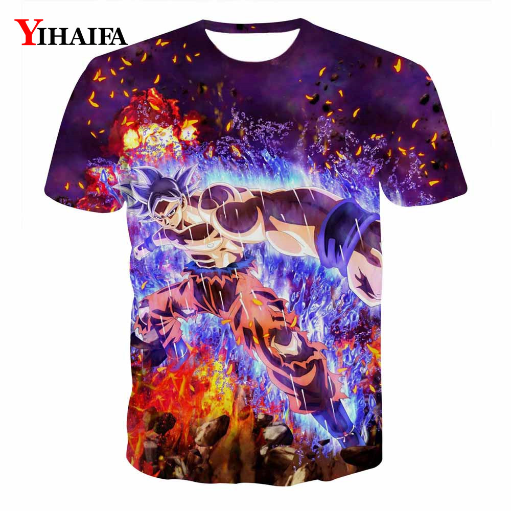 Dragon Ball Z Men T shirt Nebula Cartoon Anime 3D Print Graphic Tees Short Sleeve Stylish DBZ Cartoon Casual Tee Shirts Tops(China)