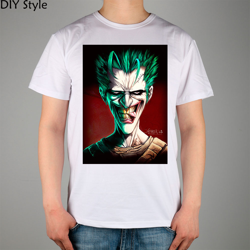why so serious JOKER T-shirt Top Cotton Men T shirt New Design