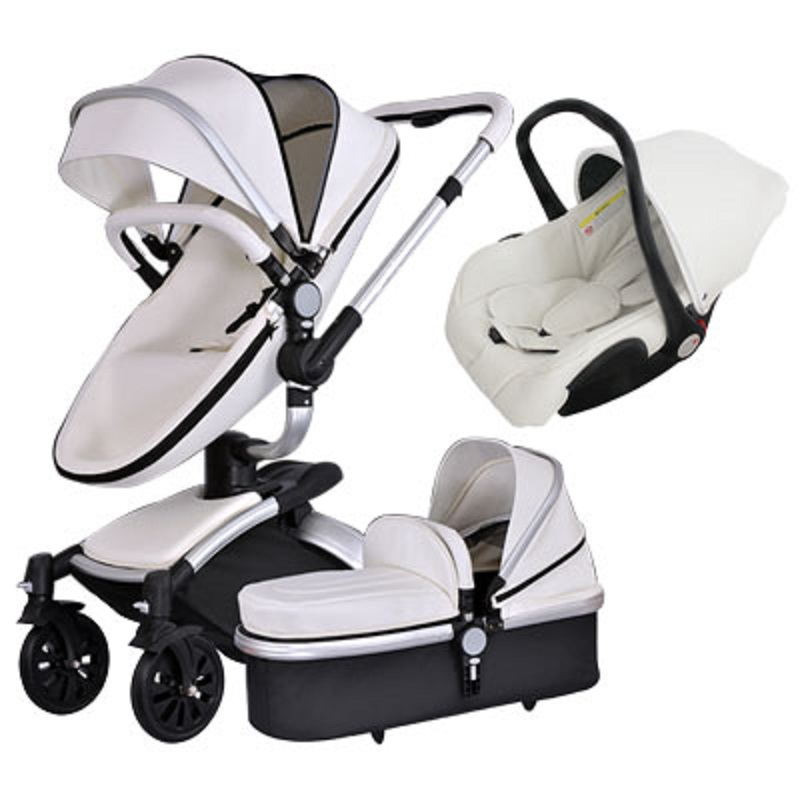 Aiqi  2 in 1 Free-rotating cradle seats baby stroller PU two-way shock absorbers BB car cart trolley  3 in 1 baby pram 2015 baby stroller 3 in 1 600d oxford cloth pram for kids 0 3 years old baby shock absorbers pushchair with carry cot bassinet