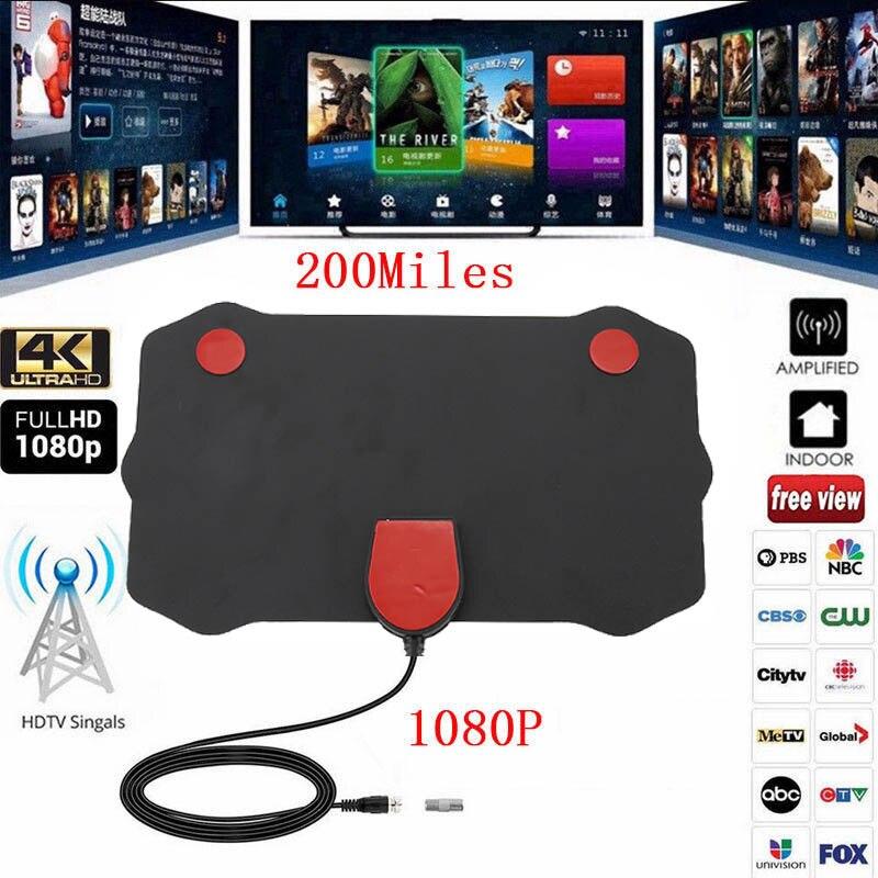 200 Mile portée antenne intérieure TV numérique HD Skywire numérique HDTV 1080 p antenne QJY99