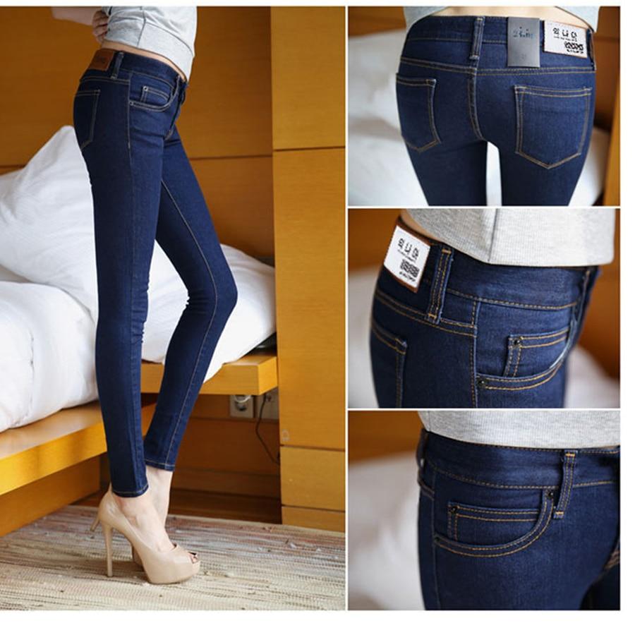 2016 Mid waist Skinny jeans Women Jeans  full long pants stretch  black Package hip Pencil pants denim pants Femme jeans trouser рюкзак case logic 17 3 prevailer black prev217blk mid