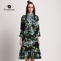 2017 봄 드레스 인쇄 빈티