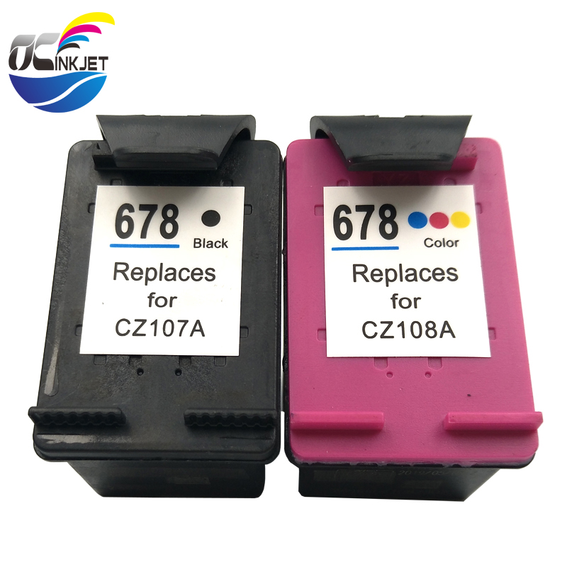 OCINKJET 678 Replacement Ink Cartridge For <font><b>HP</b></font> 678 678XL Suit For <font><b>HP</b></font> Deskjet 1518 2515 <font><b>3515</b></font> 1018 2548 3548 2648 4648 With Chip image