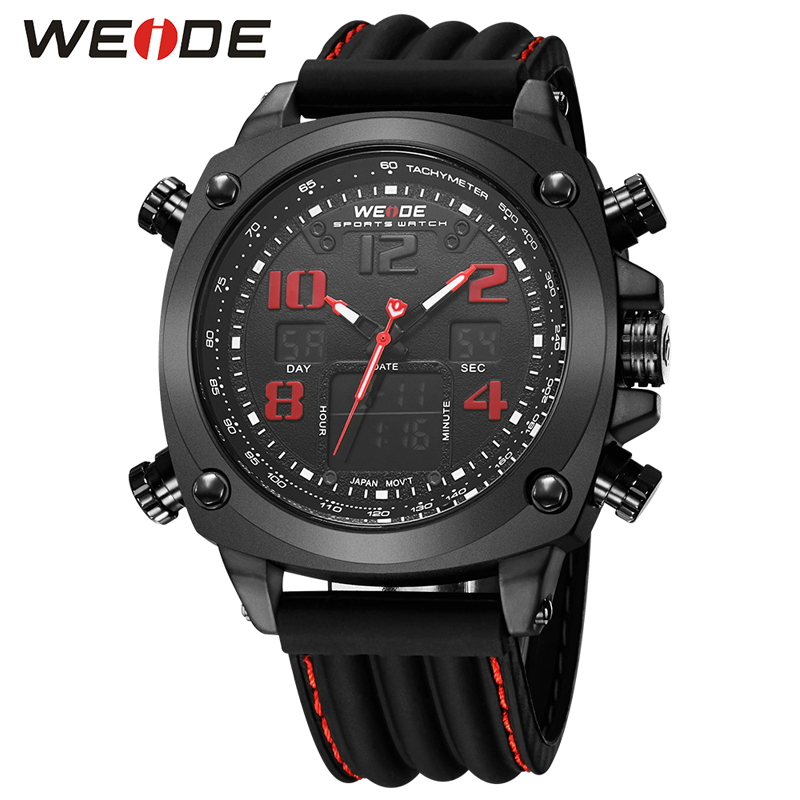 Top Luxury Brand WEIDE Sport Men Watches Quartz Wrist Watch Male Clock Silicone Army Military Wrist Watch Relogio Masculino ochstin watches men top brand luxury clock men s silicone casual quartz relogio masculino male army military sport wrist watch