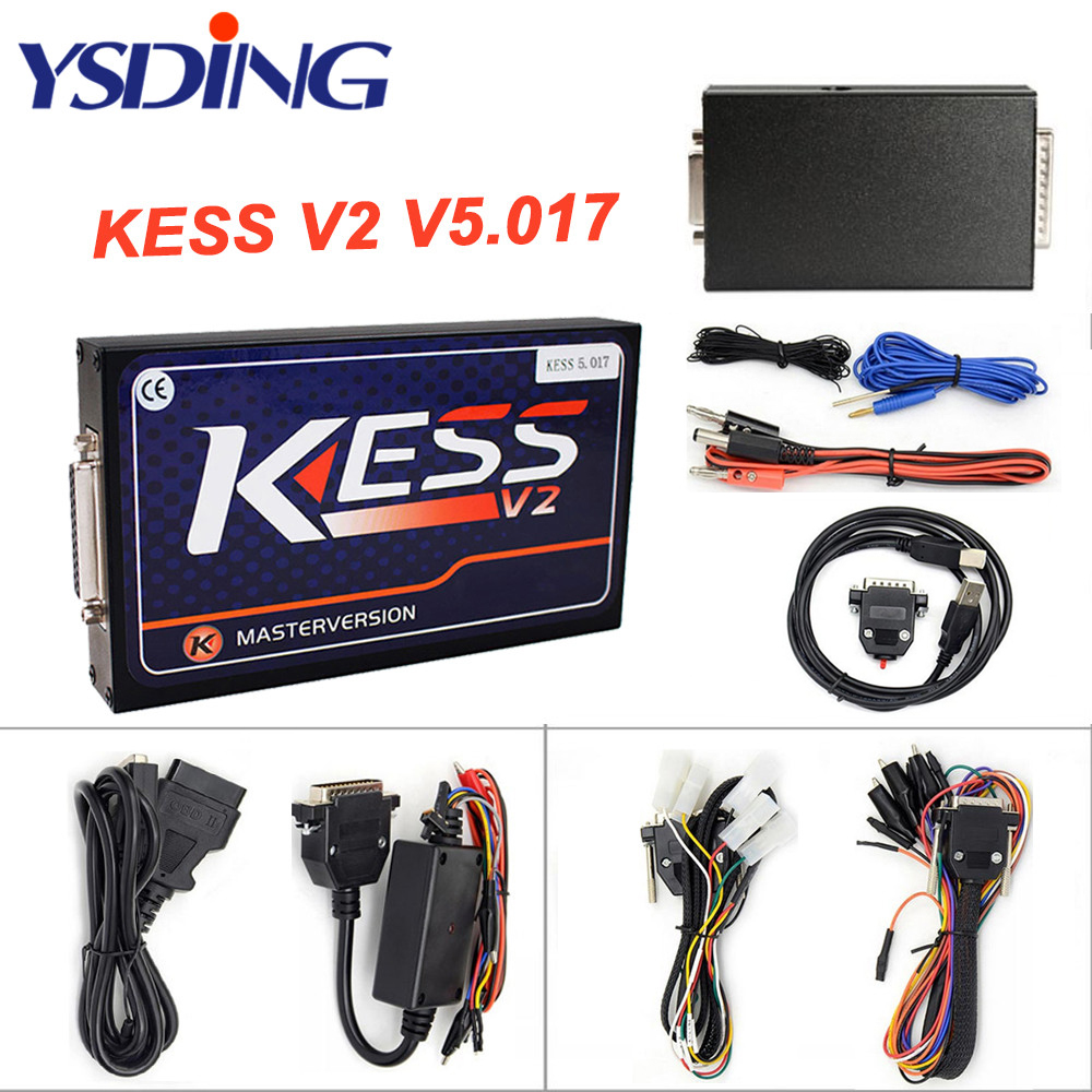 KESS V2 V5.017 EU Green PCB No Token Limited ECM Titanium KTAG V5.017 Master Version ECU programming tool Car/Tractor/Bike