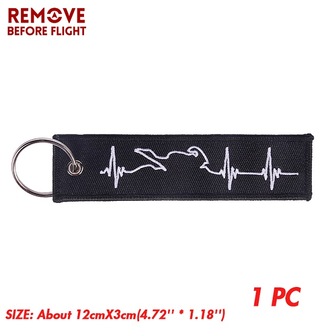 Embroidery Key Fobs Jewelry Fashion Biker Heartbeat Keychain Motorcycles and Cars Fashionable Chain Keychain for Biker Lovers1