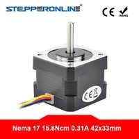 Nema 17 Stepper Motor Unipolar 6 Wires 1.8 Degree 15.8Ncm(22.4oz.in) 0.31A for 3D Printer CNC Robot