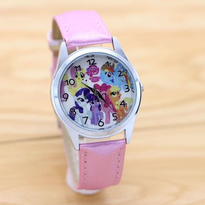 Uhren Kinder Uhr Einhorn Pony Lederband Analog Zifferblatt Quarz Uhren Kinder Handgelenk Uhren Für Jungen Mädchen Weihnachten Geschenke Cartoon Uhr
