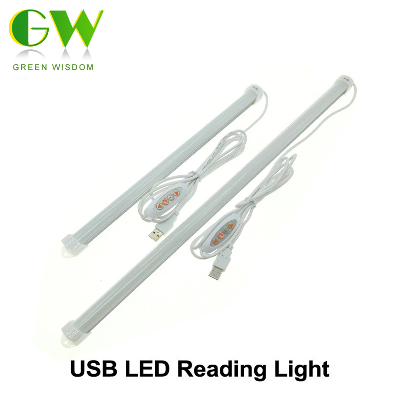 USB LED Bar Light DC 5V Eyes Protection LED Rigid Strip LED Reading Light Stepless Dimming / Double Color / Single Color