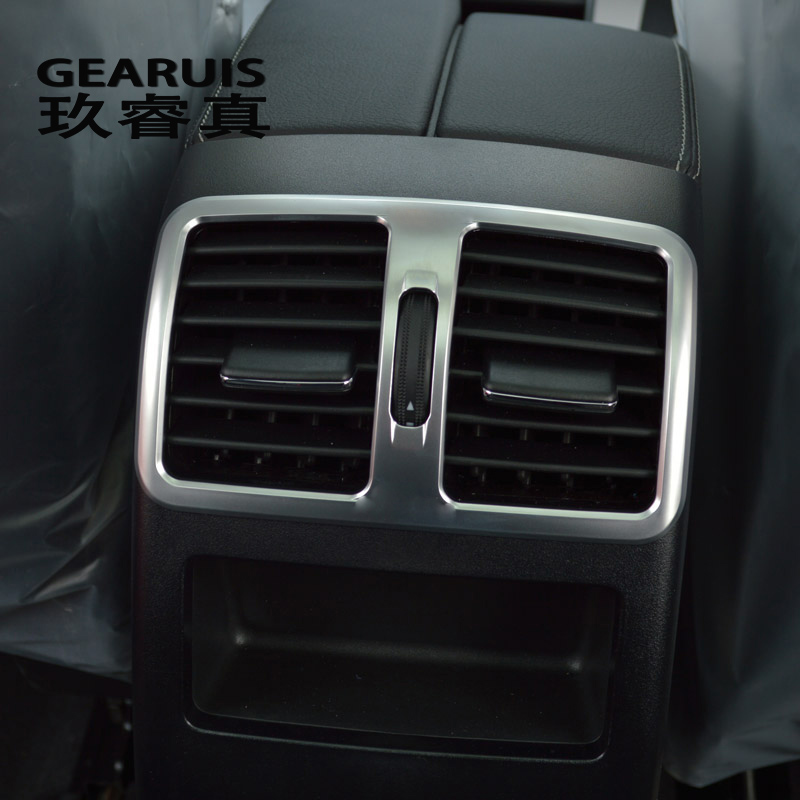 Car Styling Rear Air Conditioning Vent Decorative Cover Trim Air Outlet Frame For Mercedes Benz GLK X204 200 260 300 Accessories image