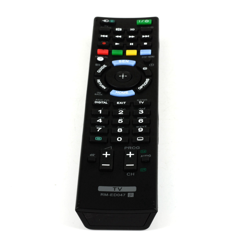 New Replacement FOR SONY RM-ED047 3D LCD TV Remote control FOR, KDL-40EX653,KDL-40EX655,KDL-46EX650,KDL-46EX653, KDL-46EX655 док станция sony dk28 tv dock