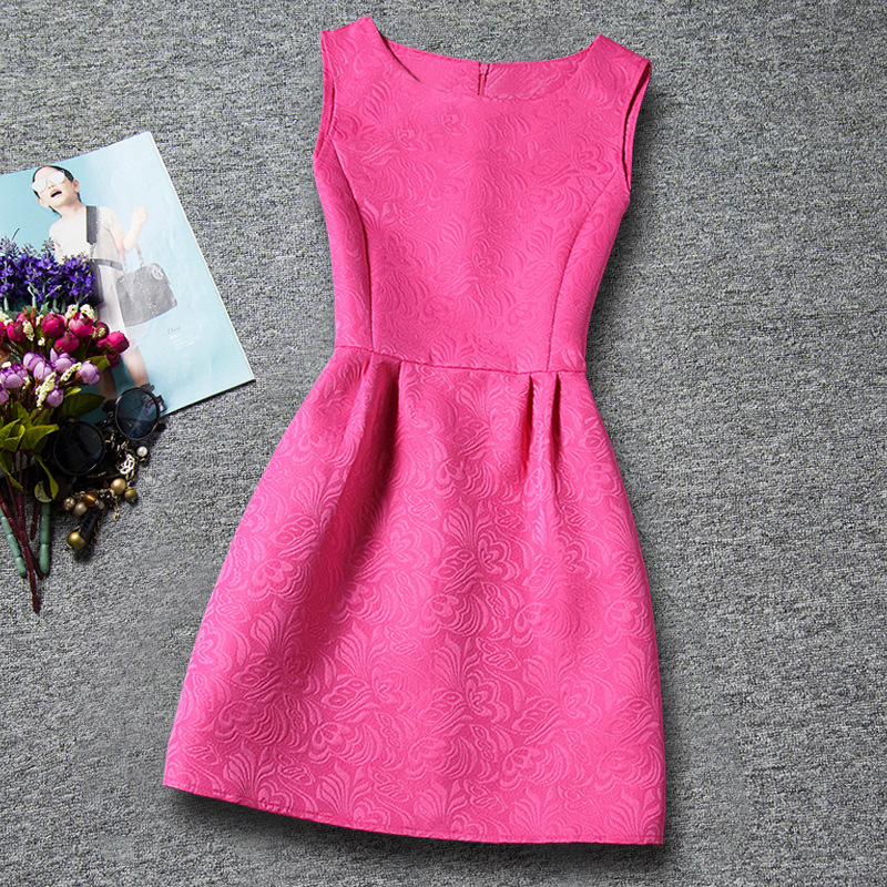 U-SWEAR 2019 New Arrival   Flower     Girl     Dresses   O-neck Sleeveless Solid Color Flora Pattern A-line   Flower     Girl   Pageant Vestidos