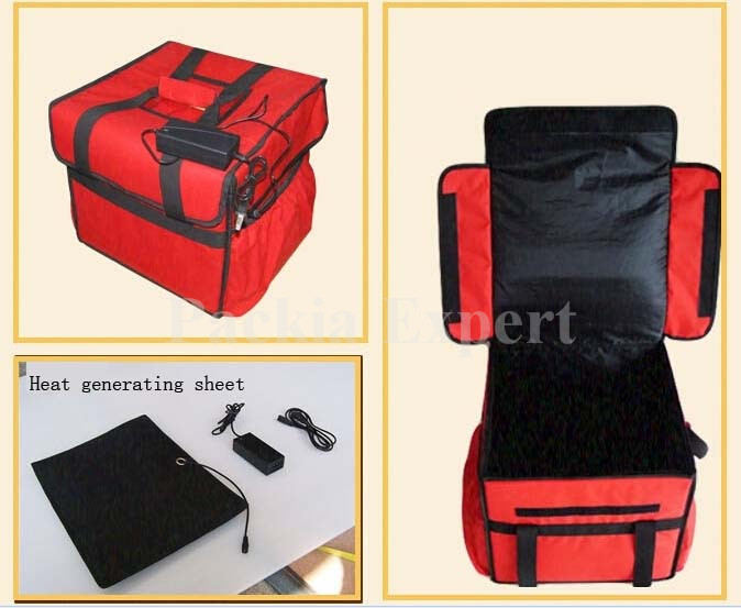 Pizza delivery bag for 7pcs 12  38*38*35CM with  PPS support been heat charging  cake juice  hot style  thermal insulation bag