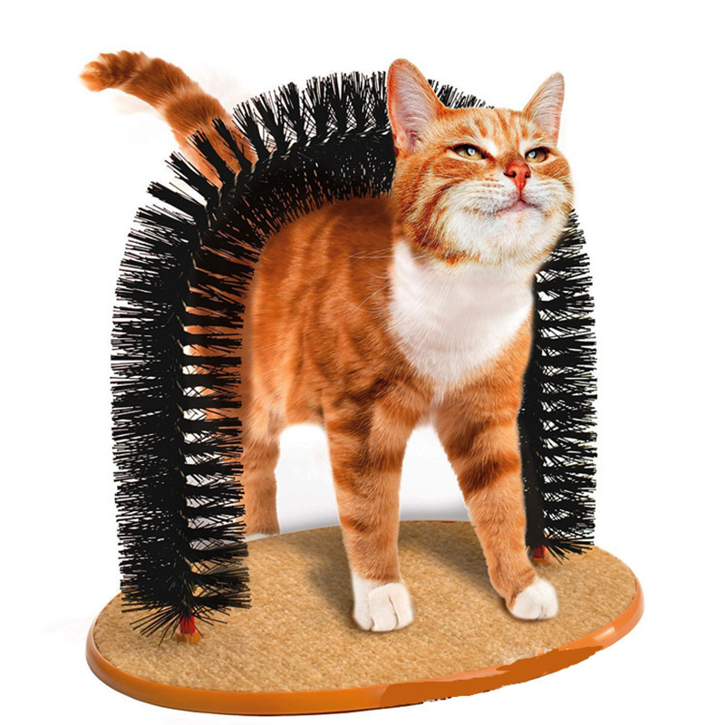 Pet Cat Dogs Scratching Door Self Groomer Brush Massages While Removing Shedding Fur Cats Toys Scratcher Pl0105