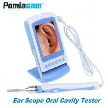 66C 3 дюймов ЖК-дисплей семейного здравоохранения Карманный отоскоп в носу и ушах, для наблюдения с 3,9 мм Len ручной эндоскоп Камера полости рта тестер полости