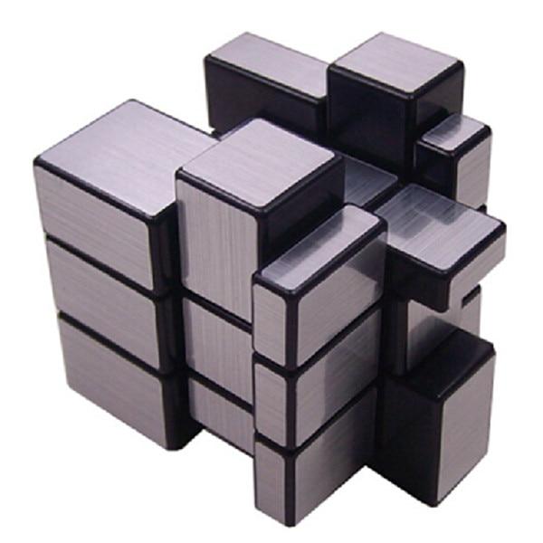 Nytt merke ShengShou Børstet Sølv & Gull Speil Cubo Magisk Cast - Puslespill - Bilde 4
