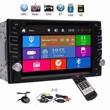 2 DIN стерео GPS навигации Поддержка 1080 P DVD CD audio плеер GPS Sat Nav Радио Bluetooth USB SD AUX Беспроводной сзади Камера