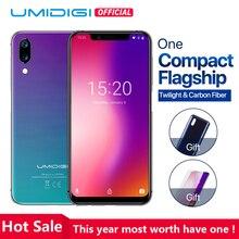 UMIDIGI One 5,9 » Андройд 8,1 мобильный телефон 4 ГБ 32 ГБ P23 восьмиядерный смартфон 12MP + 5MP двойной 4Г разблокировка лица глобальная версия компактный флагман+сумерки