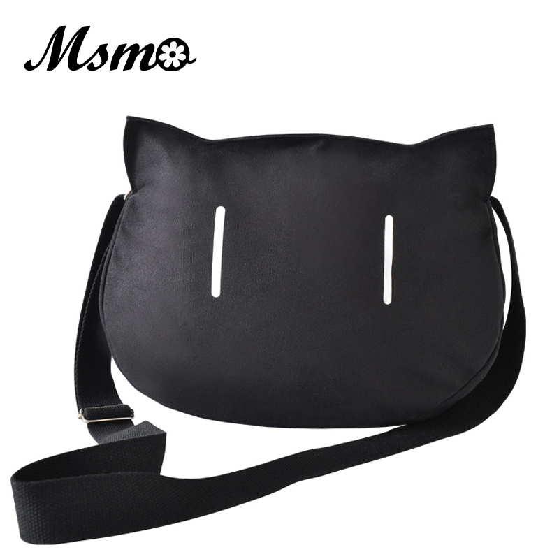 bafd4e285be7 My Little Sister Can t Be This Cute Black Kawaii Cat Shoulder Bag Crossbody  Bag Canvas Women Handbag Casual Tote Bag Large Bag-in Crossbody Bags from  ...