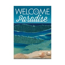 Welcome Paradise Garden Flag Designed With Double Sided Decorative Outdoor Flags Home And Yard Banner Hello Summer