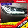 Auto Clud 2011-2015 For vw passat B7 headlights car styling LED light guide DRL Q5 bi xenon lens head lamps H7 car parking