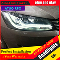 Auto Clud 2011-2015 Para vw passat B7 faróis do carro styling LEVOU guia de luz DRL Q5 lente bi xenon cabeça lâmpadas de carro H7 estacionamento
