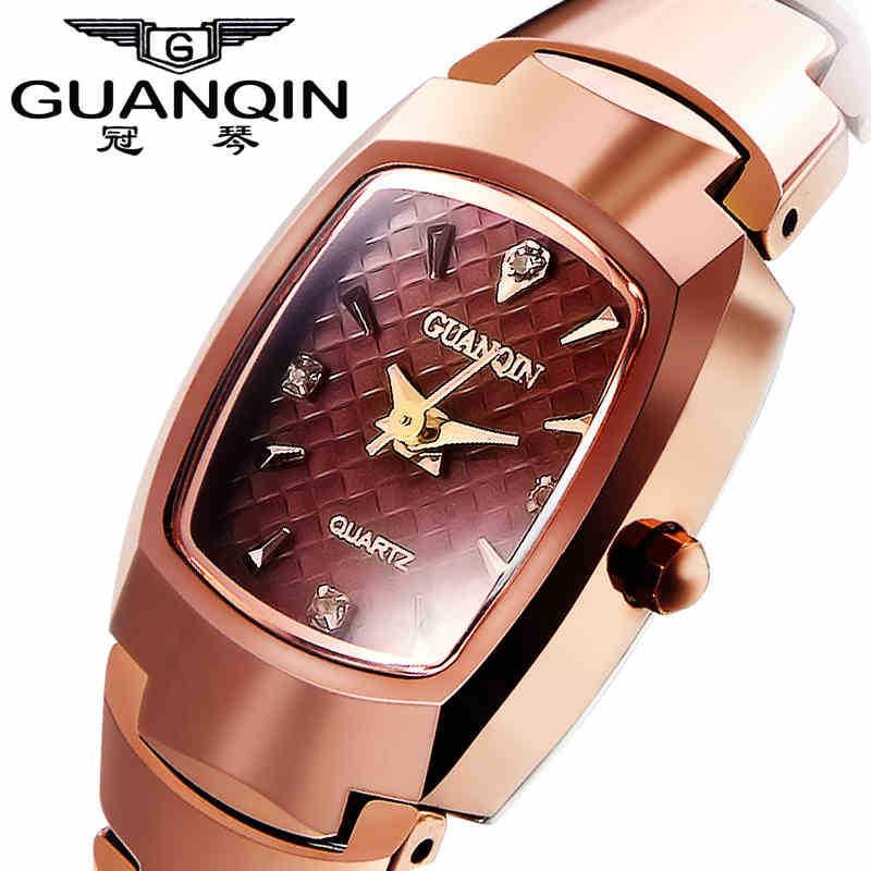 2015 Fashion Tungsten steel Women Dress watches Luxury Brand Rhinestone Ladies Quartz Watches Free Shipping Gifts