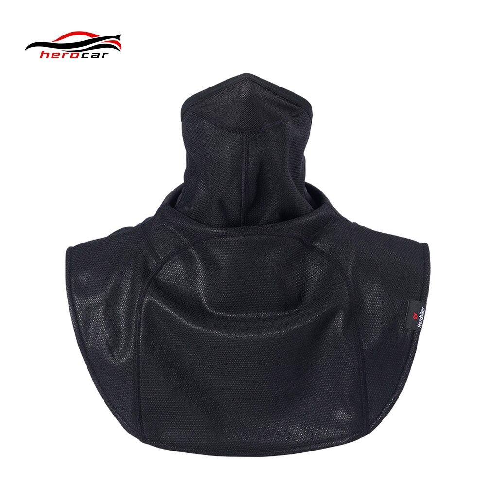 HEROBIKER Moto masque de visage châle coupe-vent hiver thermique polaire masque de cyclisme Moto écharpe Ski vélo vélo foulard cape