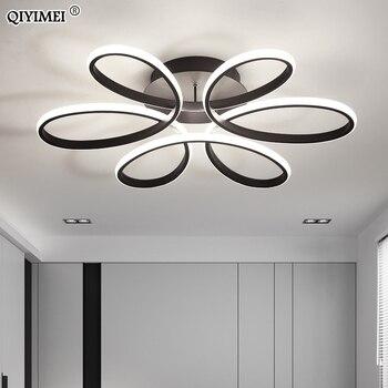 Trắng/Đen/Cà Phê/ĐÈN LED Hiện Đại Đèn chùm cho phòng khách phòng ngủ phòng ăn thân nhôm Mờ chiếu sáng gia đình luminarias dero
