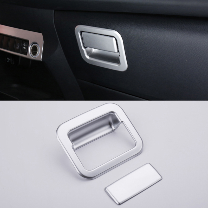 For <font><b>Toyota</b></font> <font><b>RAV4</b></font> 2014 2015 2016 2017 <font><b>2018</b></font> <font><b>Accessories</b></font> Matte Interior Glove Box Handle Box Cover Trim Frame 1pcs image