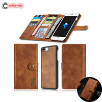 For Capa IPhone 6 6S 7 Plus Holster Retro Wallet Leather Luxury Phone Shell Cover Case