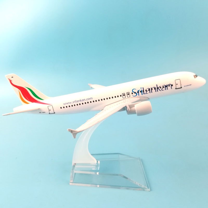 16CM SriLankan Airlines Airbus A320 Airplane Model Plane Model Alloy Metal Diecast Aircraft Model Toy Plane Gift Dropshipping