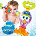 Brinquedos para o Banho do bebê 0-12 Meses Plástico Polvo Dos Desenhos Animados Diversão Piscina Brinquedos Para O Banho Brinquedo Para Bebe Educacional Oyuncak
