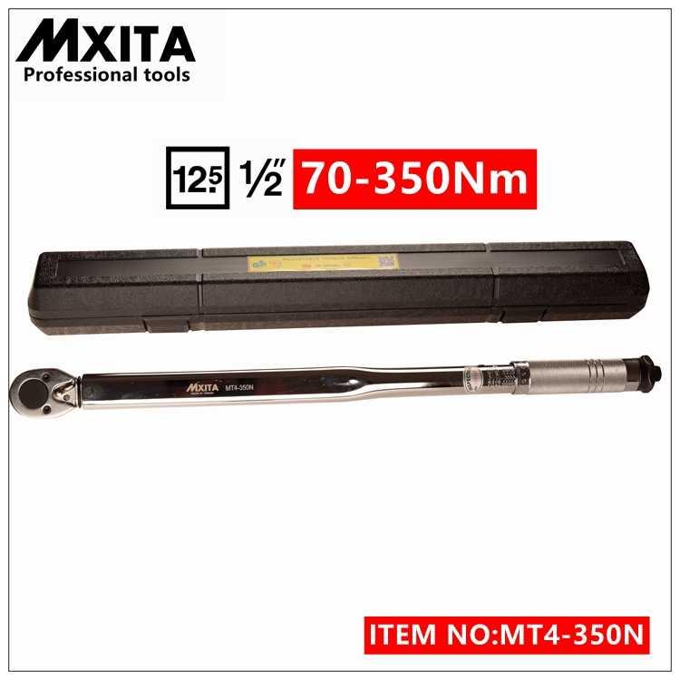 Mxita 1/2 ''Drive 70-350nm крутящий момент Гаечные ключи Инструменты чехол для ног фунт Drive нажмите Регулируемый ручной гаечный ключ, Гаечные ключи инструмент
