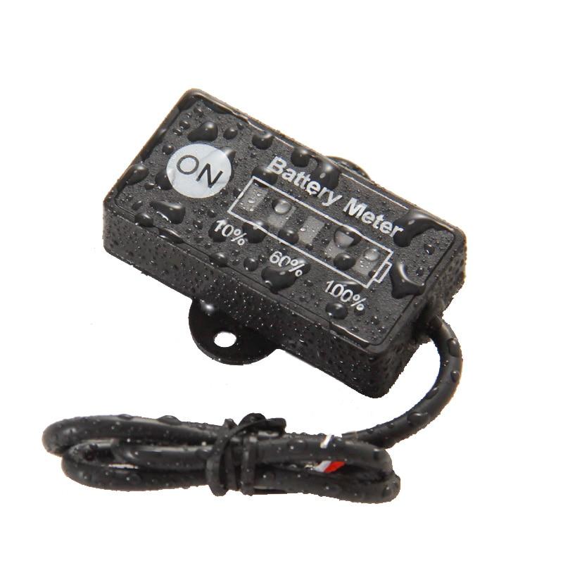 Baterie pro měření spotřeby paliva pro akumulátory 12V 24V olověný akumulátorový tester pro automobilový motocykl a kosačky na trávu ATV UTV