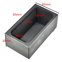 High Purity Graphite Crucible Casting Melting Ingot Mold 750G For Gold Silver