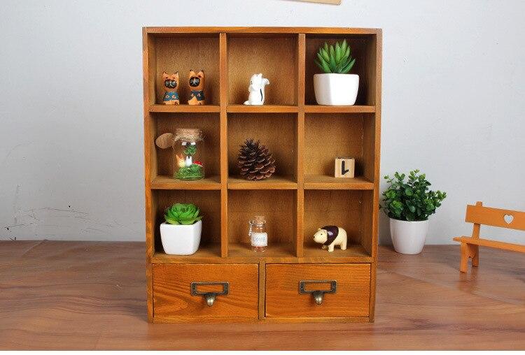 1PC Zakka Wood Drawer Cabinets Wooden Lockers Hanging Closet Retro Wooden  Display Storage Box 33x9.5x42cm JL 0942 In Storage Drawers From Home U0026  Garden On ...