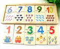 BOHS Small Montessori Game Math Teaching Self Correcting Number Puzzles Matching Plate Calculation Mathematical Educational Toys