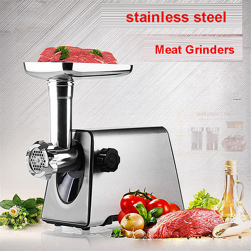 MGD-120 220V/50Hz  Household Stainless Steel Multifunction Manual Electric Grinder Mincer  400 W / 1000 W Silver 4.8cm Grinders viper 1 mgd