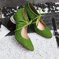 Suede High Heeled Women Shoes Gorgeous Chunky Heel Pearls Bowtie Pumps Shoes Shallow Cut Out Party Shoe Femininos