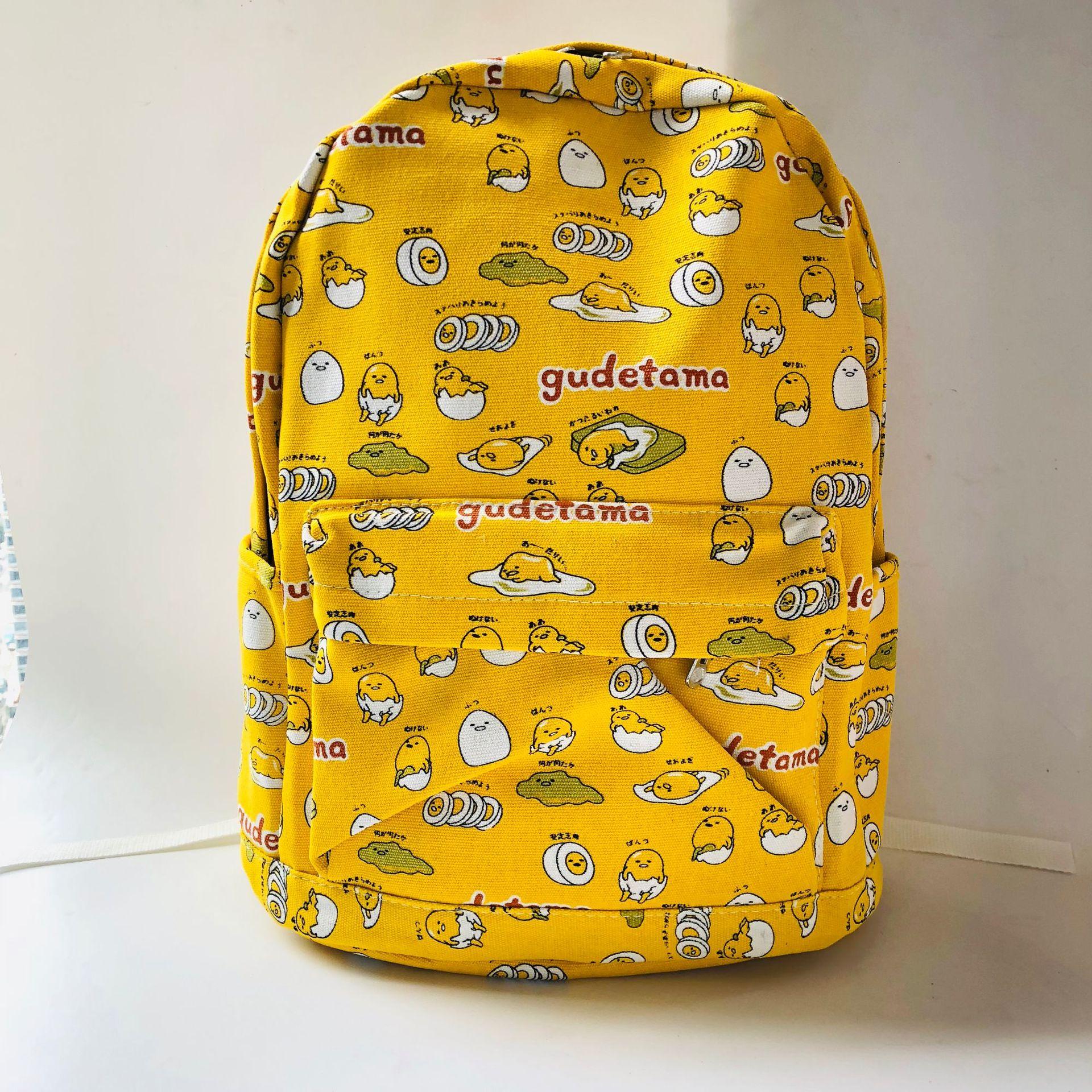 "Gudetama yellow egg 15/"" backpack travel tote laptop school bags anime new"